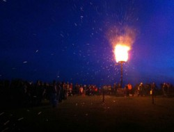 Diamond Jubilee - Lighting the beacon on Culver Down - Tim Feltham