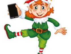 elf with camera